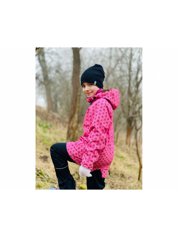"""alt=""""růžový kabát dívčí"""""""