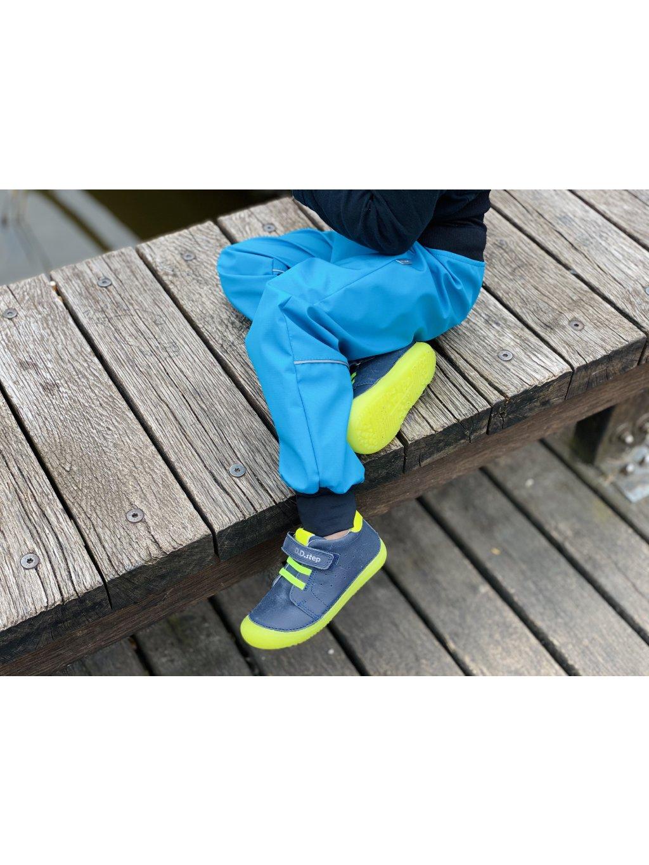 """alt=""""Pevné jarní softshellové kalhoty pro kluka modré"""""""
