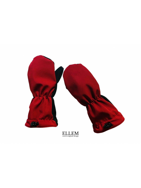 """alt=""""dětské zimní rukavice vínové"""""""