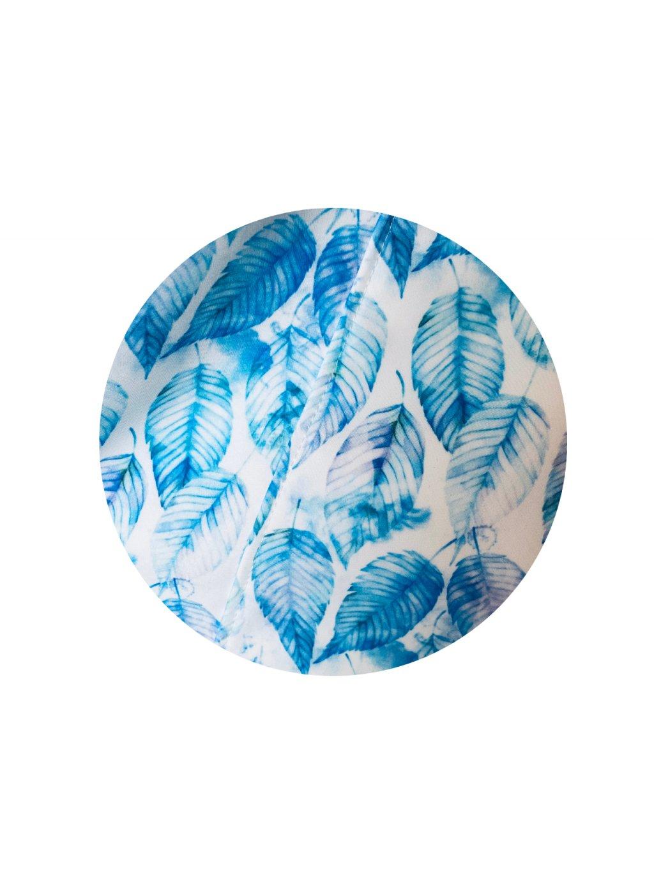 Modrý lístek - zimní softshell s bílým fleecem v podšívce, 10.000 mm H2O