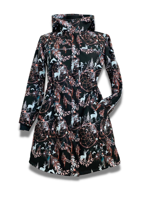 """Dívčí softshellový kabát """"Černý lapač snů"""""""