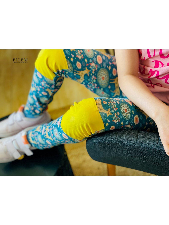 """alt=""""dívčí legíny s odolnými žlutými koleny"""""""