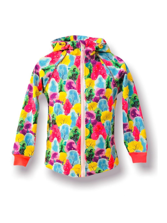 """Alt=""""barevná softshellová bunda pro holky ostružinová"""""""
