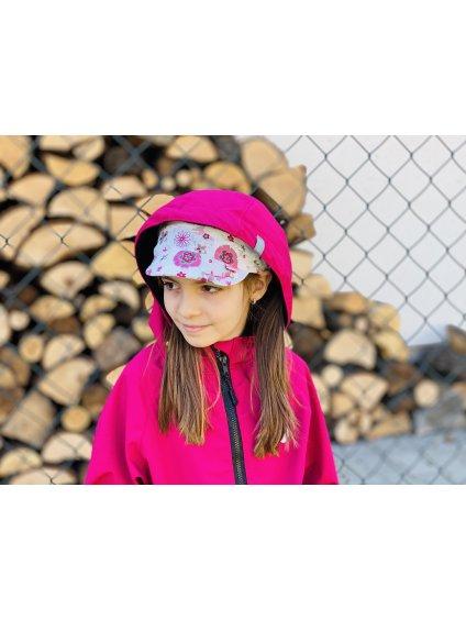 """alt=,,dívčí Softshellová bunda malinová růžová jarní delšího střihu s kapucí Pardubice"""""""