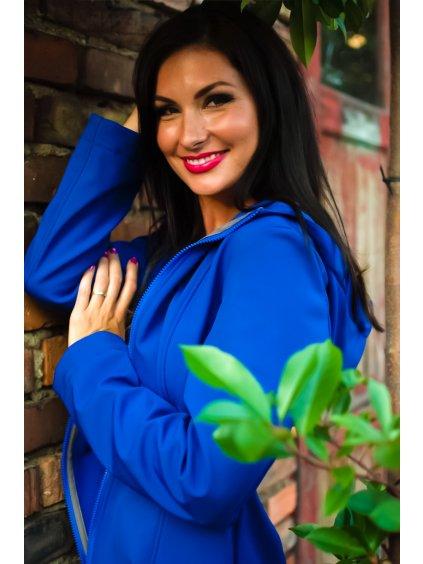 """alt=""""královsky modrý dámský kabát"""""""