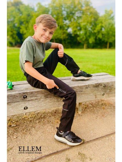 Softshellové kalhoty BLACK STANDARD - EBENA - (slim)