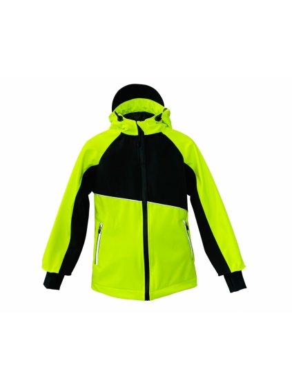 """alt=""""neonově žlutá dětská bunda"""""""