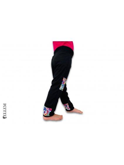 alt=divci Softshellové kalhoty, černé, s nápletem v pase
