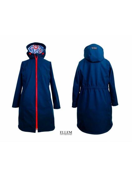 """Alt=""""dámský softshellový kabát velikost 4XL tmavě modrý"""""""
