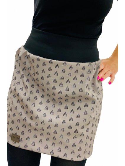 Dámská softshellová sukně šedá s nápletem v pase