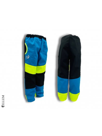 Jarní softshellové kalhoty PRUHOVANÉ - BEZ NÁPLETU (vel. 86 až 128)