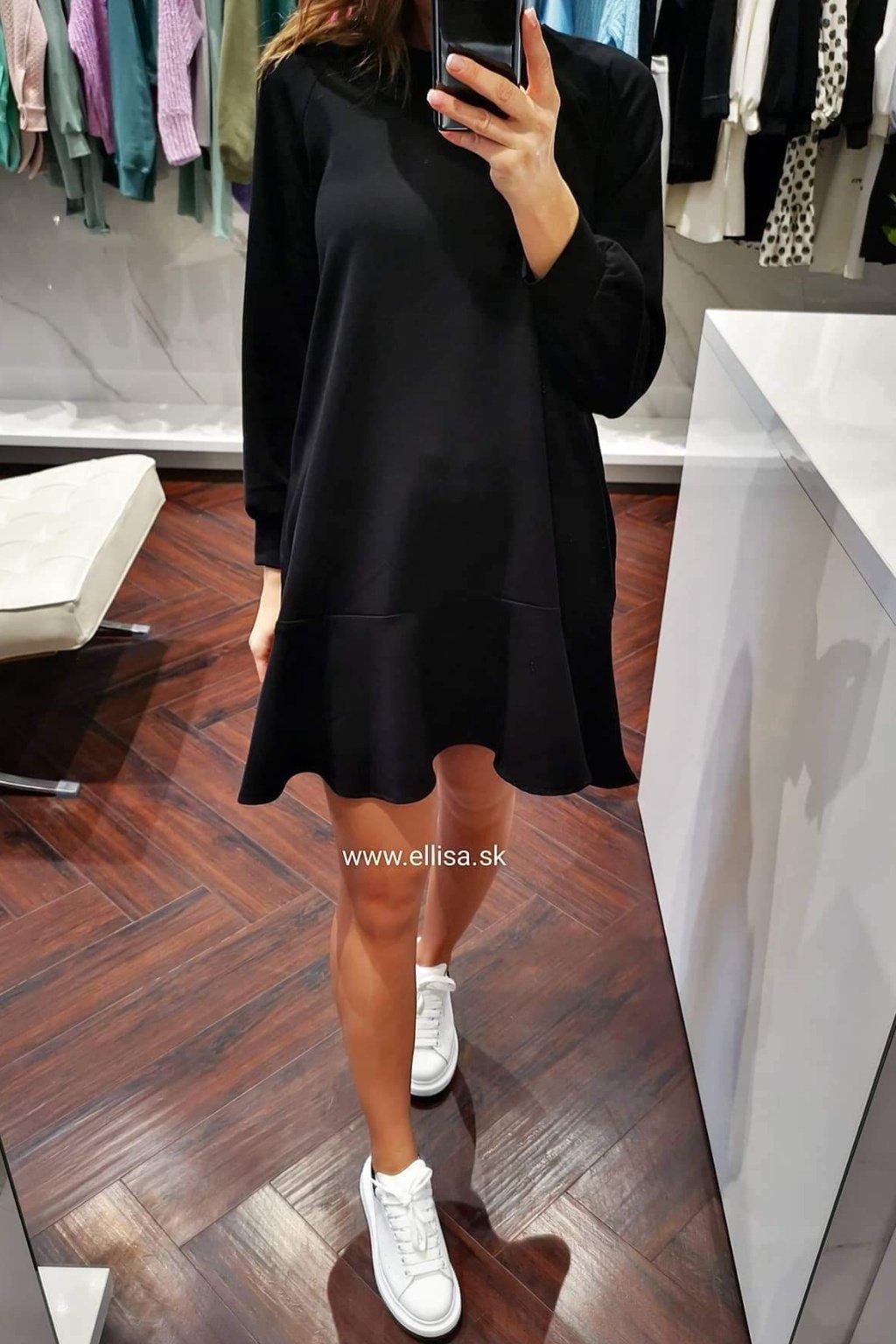 Šaty s volánom black