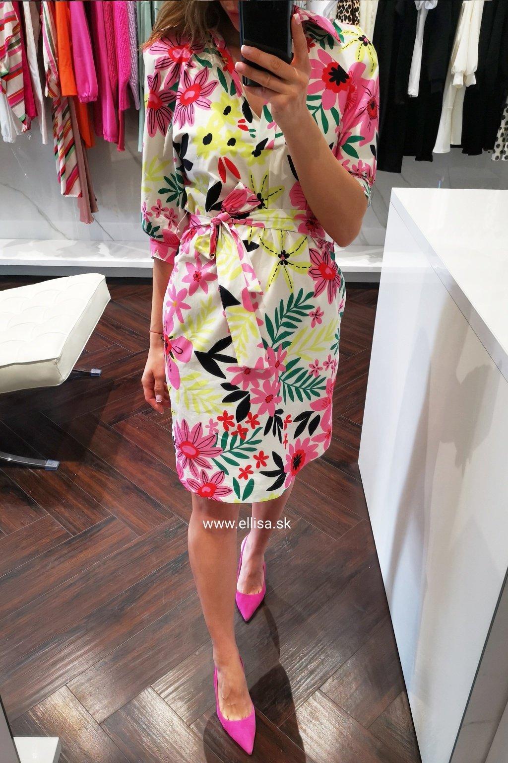 Šaty flowers pink