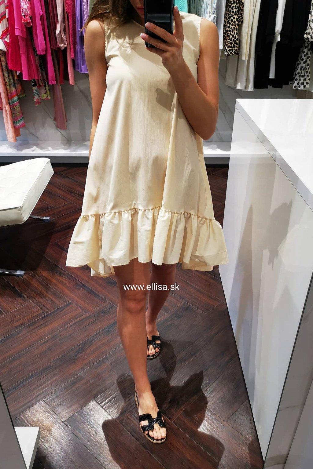 Šaty s volánom beige