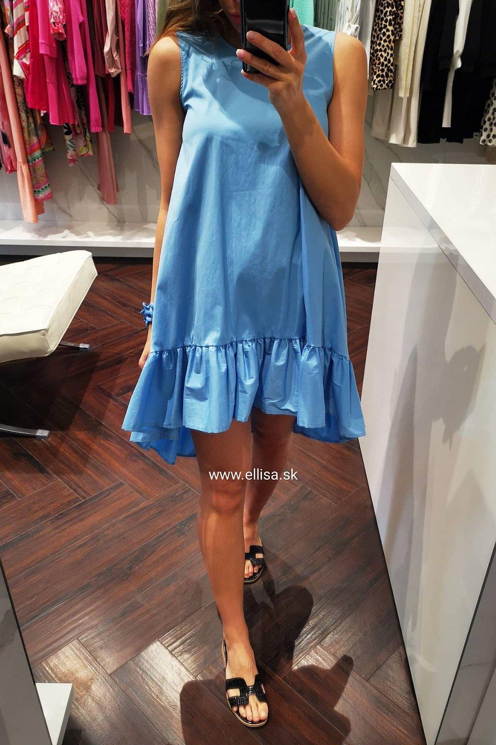 Šaty s volánom blue