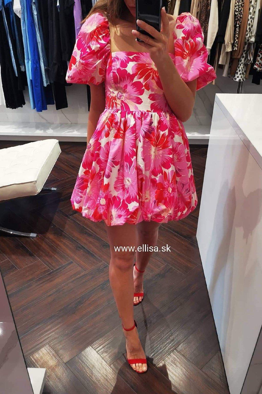Puff šaty pink