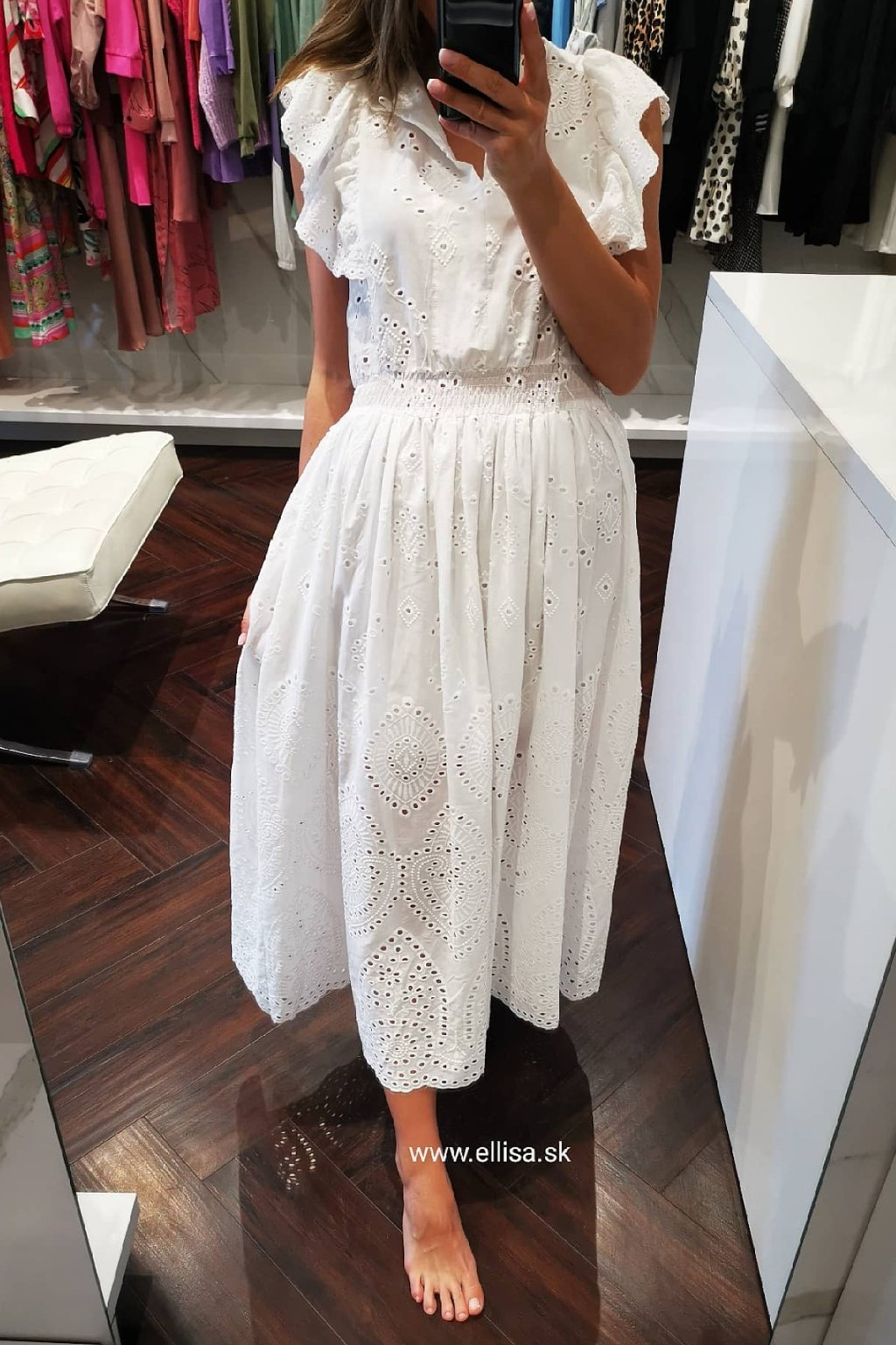 Luxusné madeirové šaty white