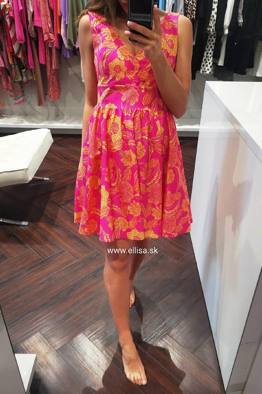 Letné šaty fuxia