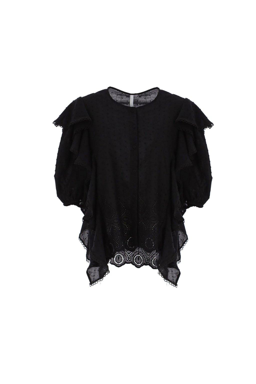 Letná košeľa s rukávom black