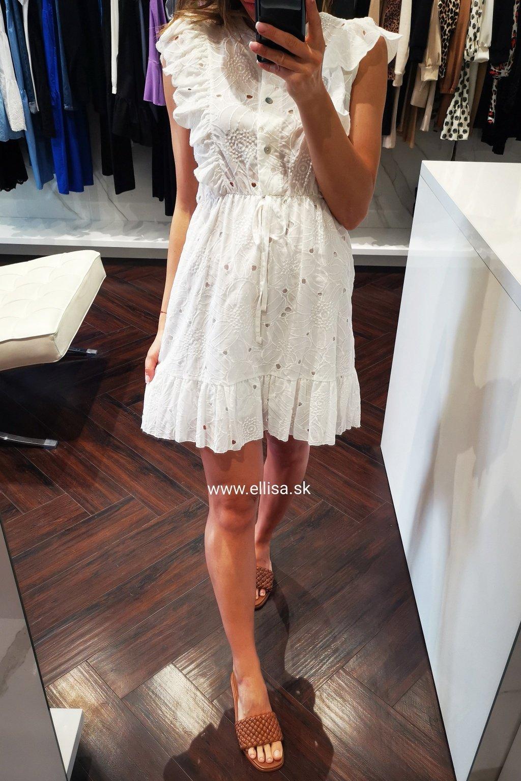 Letné madeirové šaty UNI white