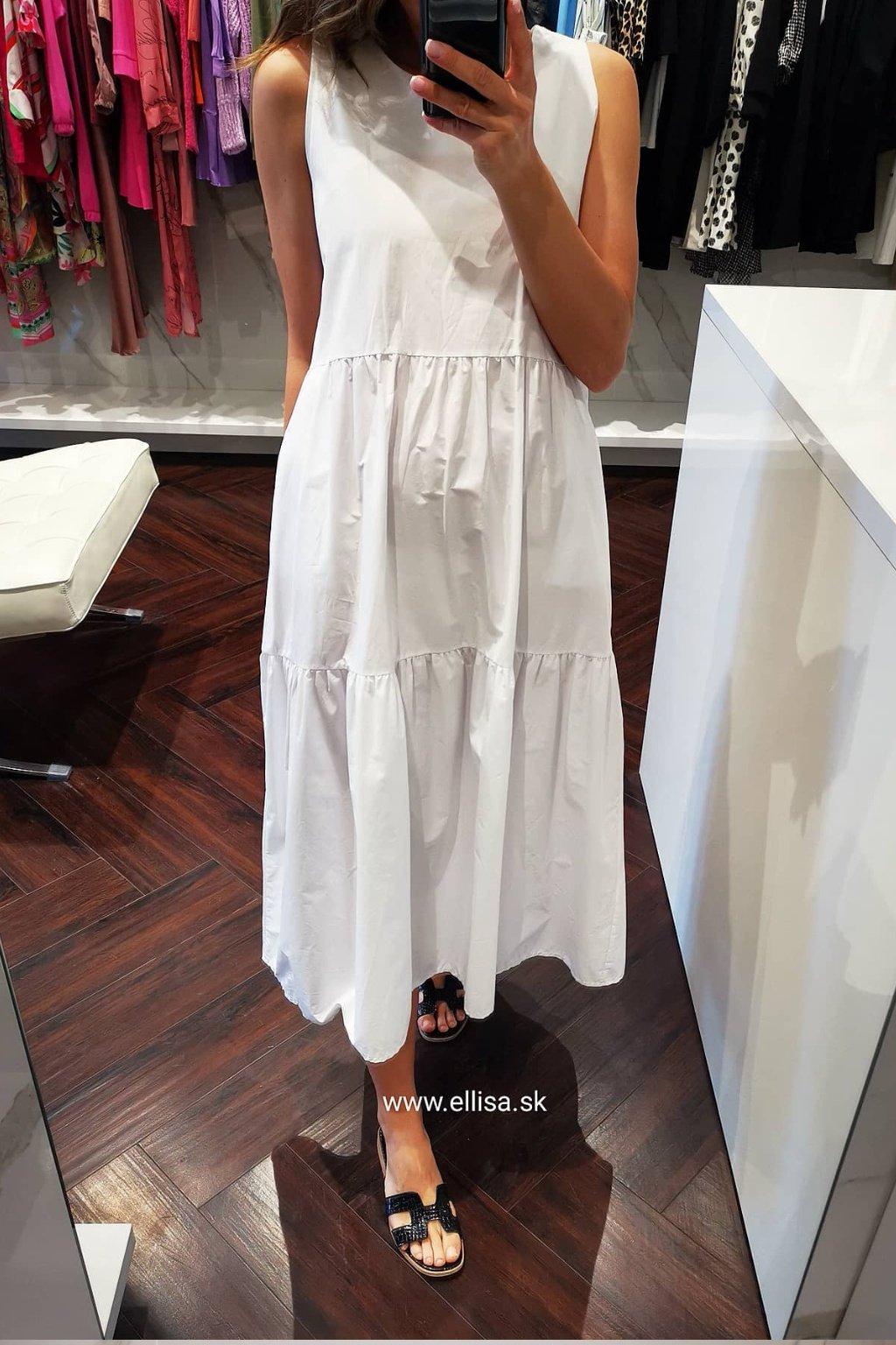 Maxi šaty white UNI