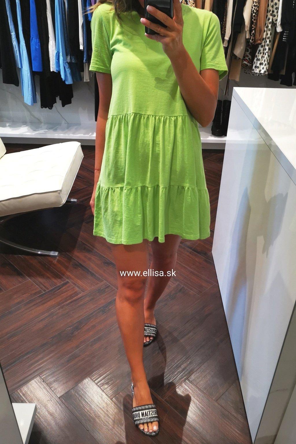 Tričkové šaty zelené UNI