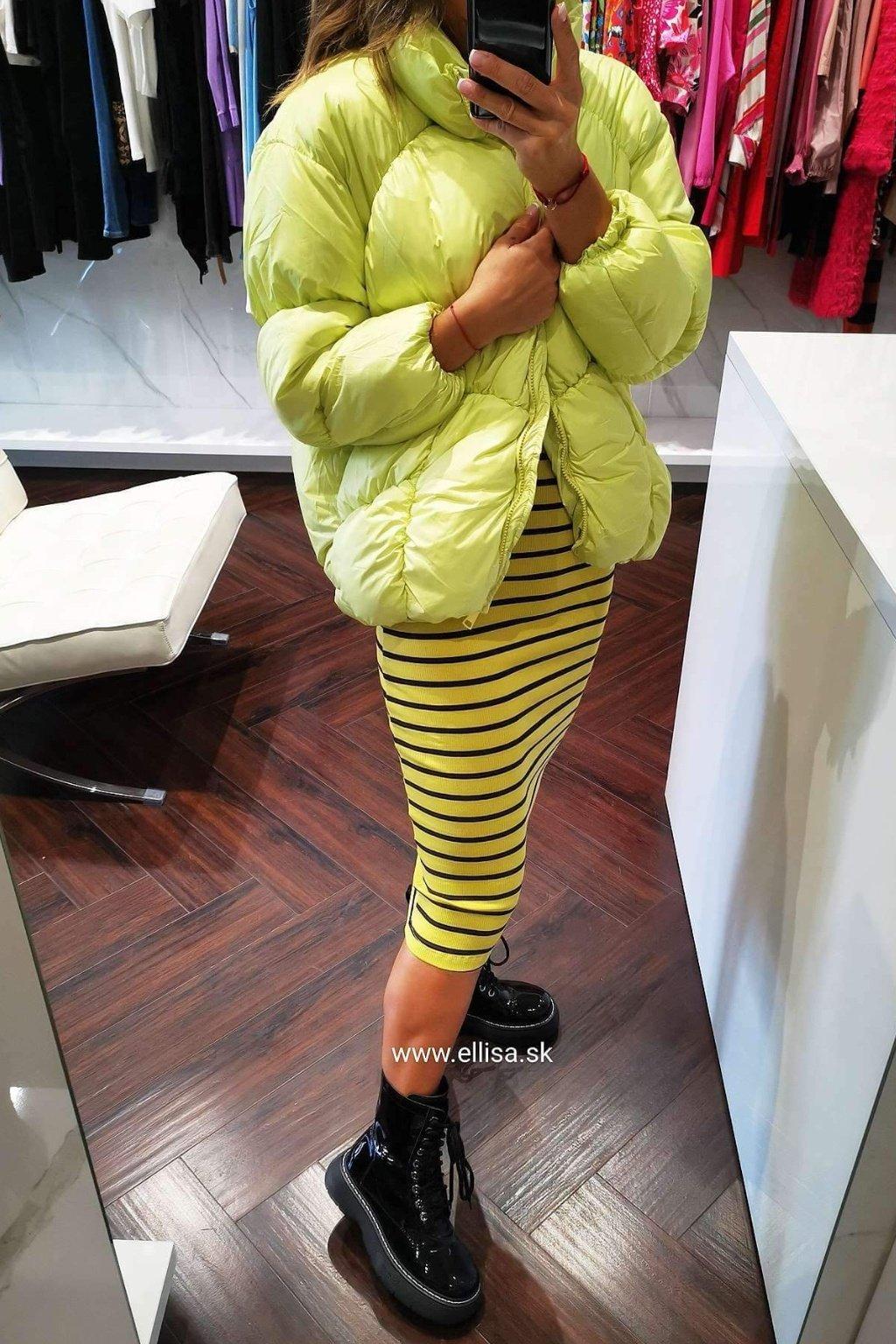 Prešívana bunda žltá UNI