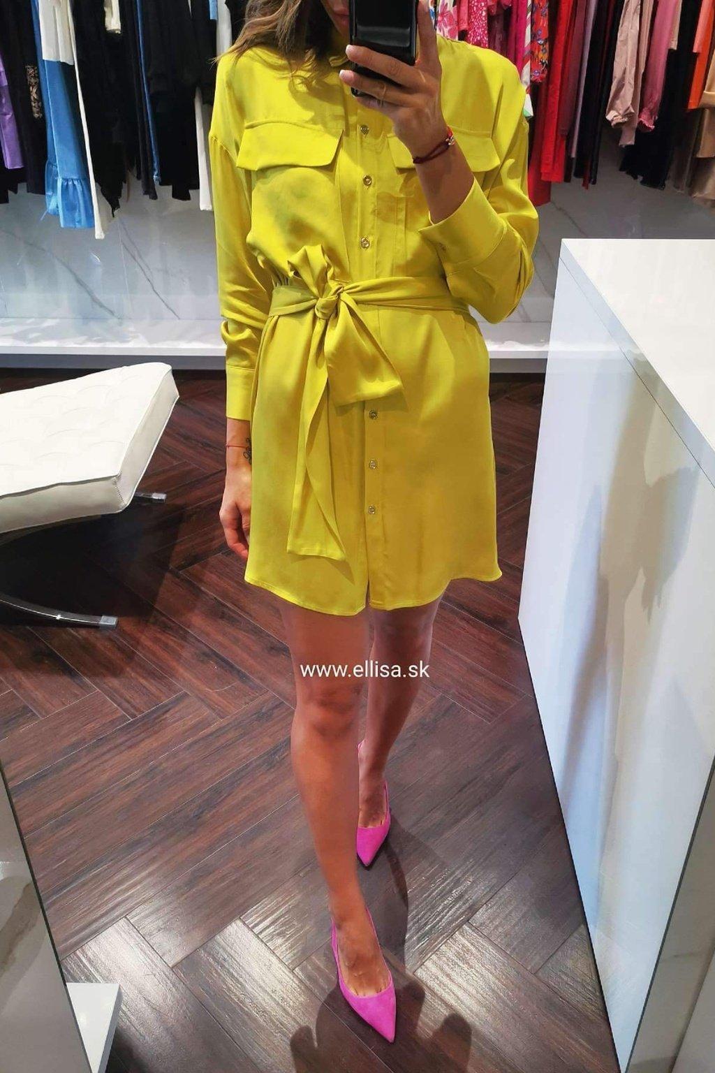 Košeľové šaty žlté