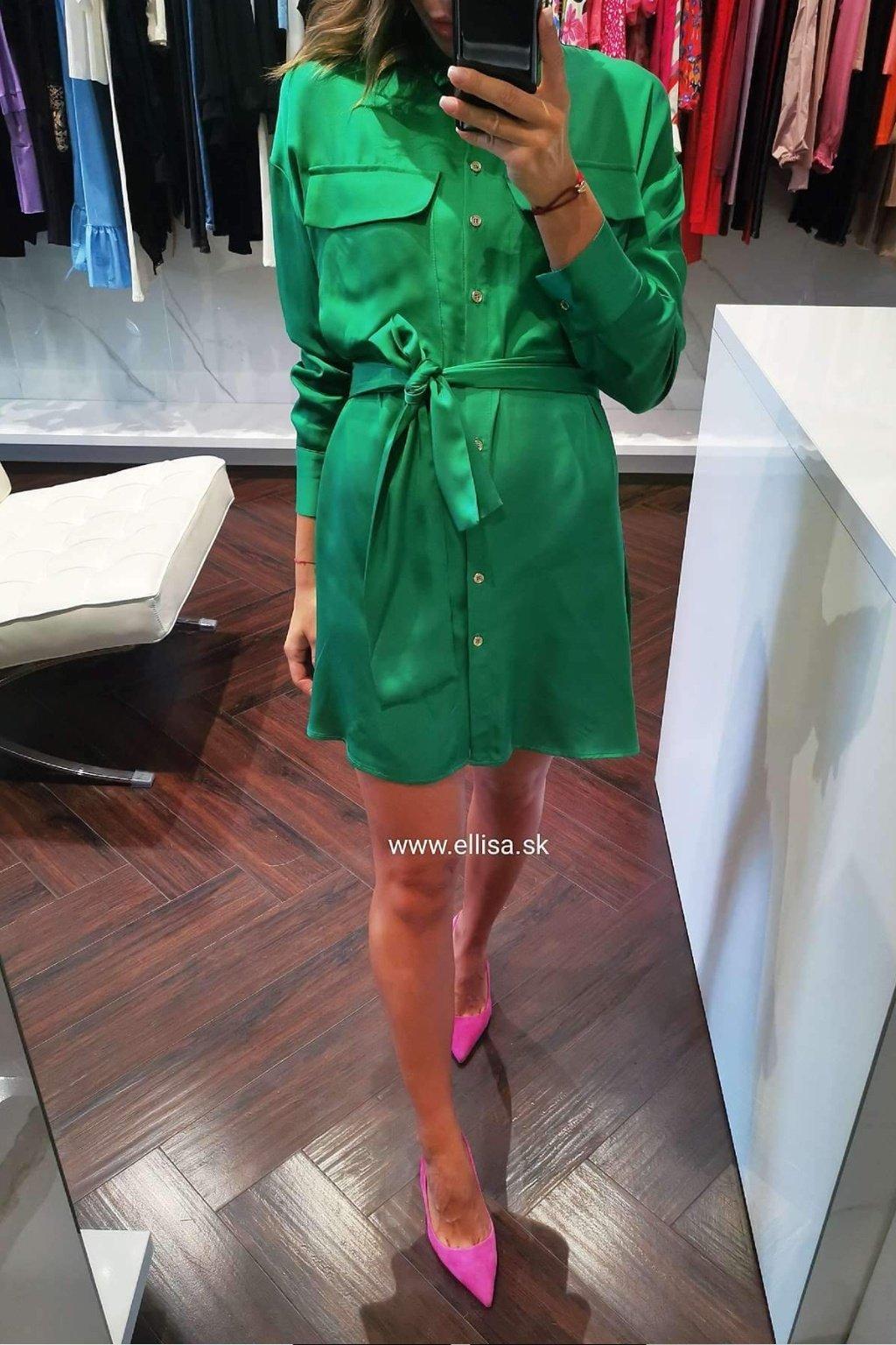 Košeľové šaty zelené