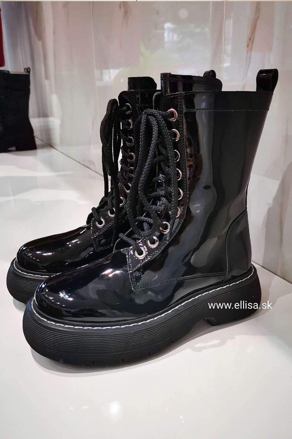 Kožené čižmy BOTEGA čierne