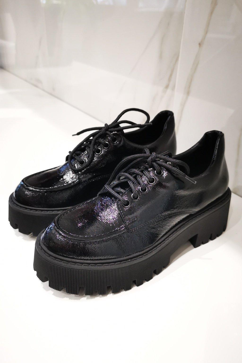 Kožené topánky OXFORD čierne