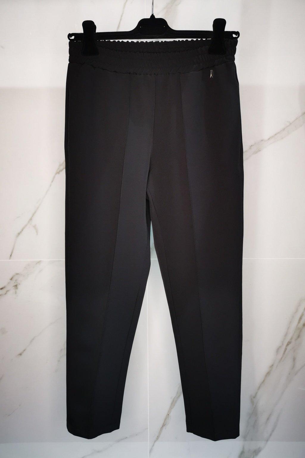 športovo-elegantné nohavice čierne