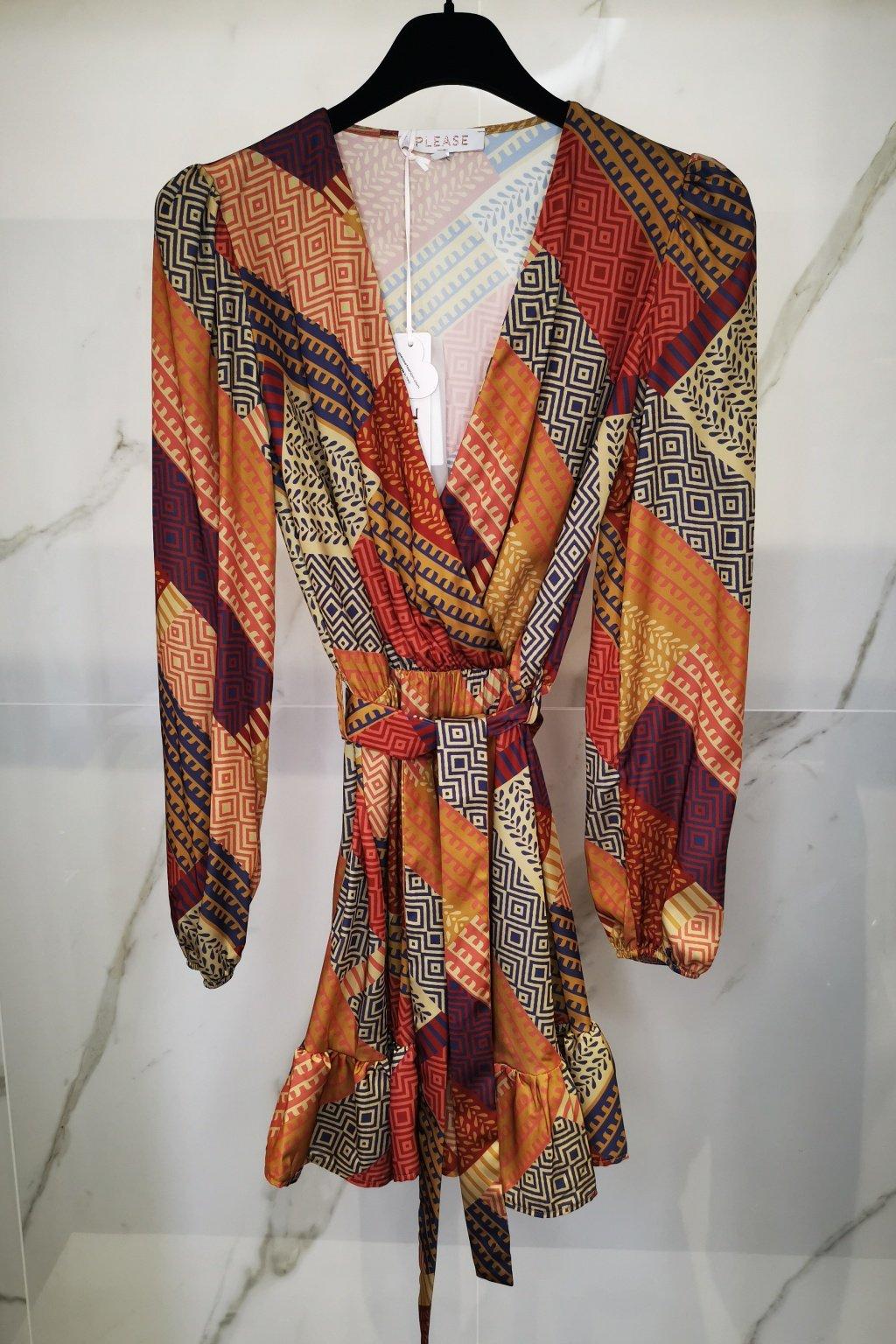 Šaty s opaskom hnedé