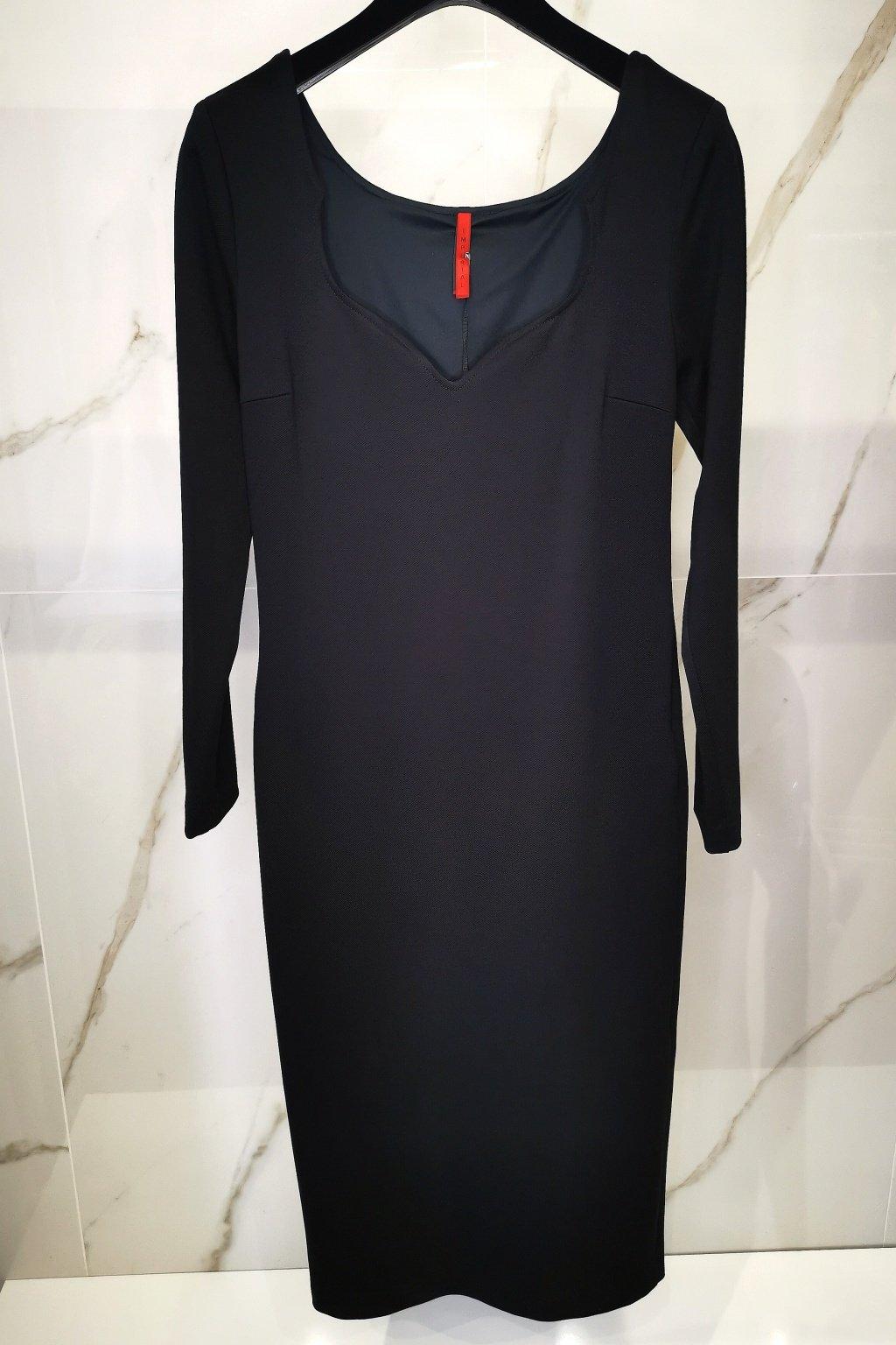 Midi šaty čierne
