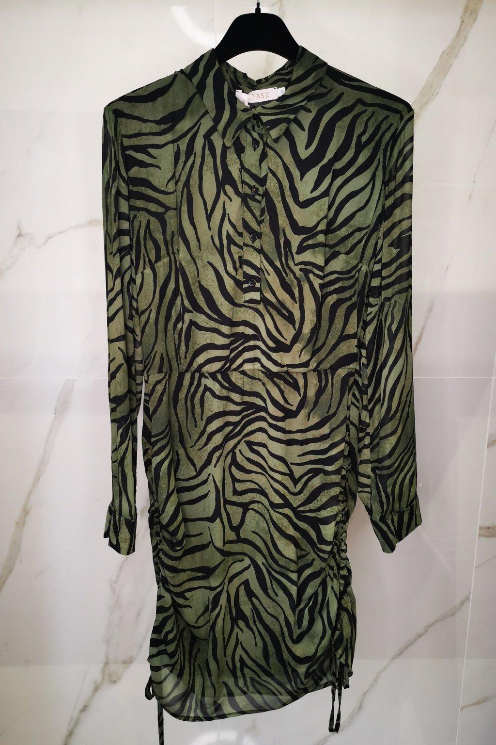 Animal šaty zelené