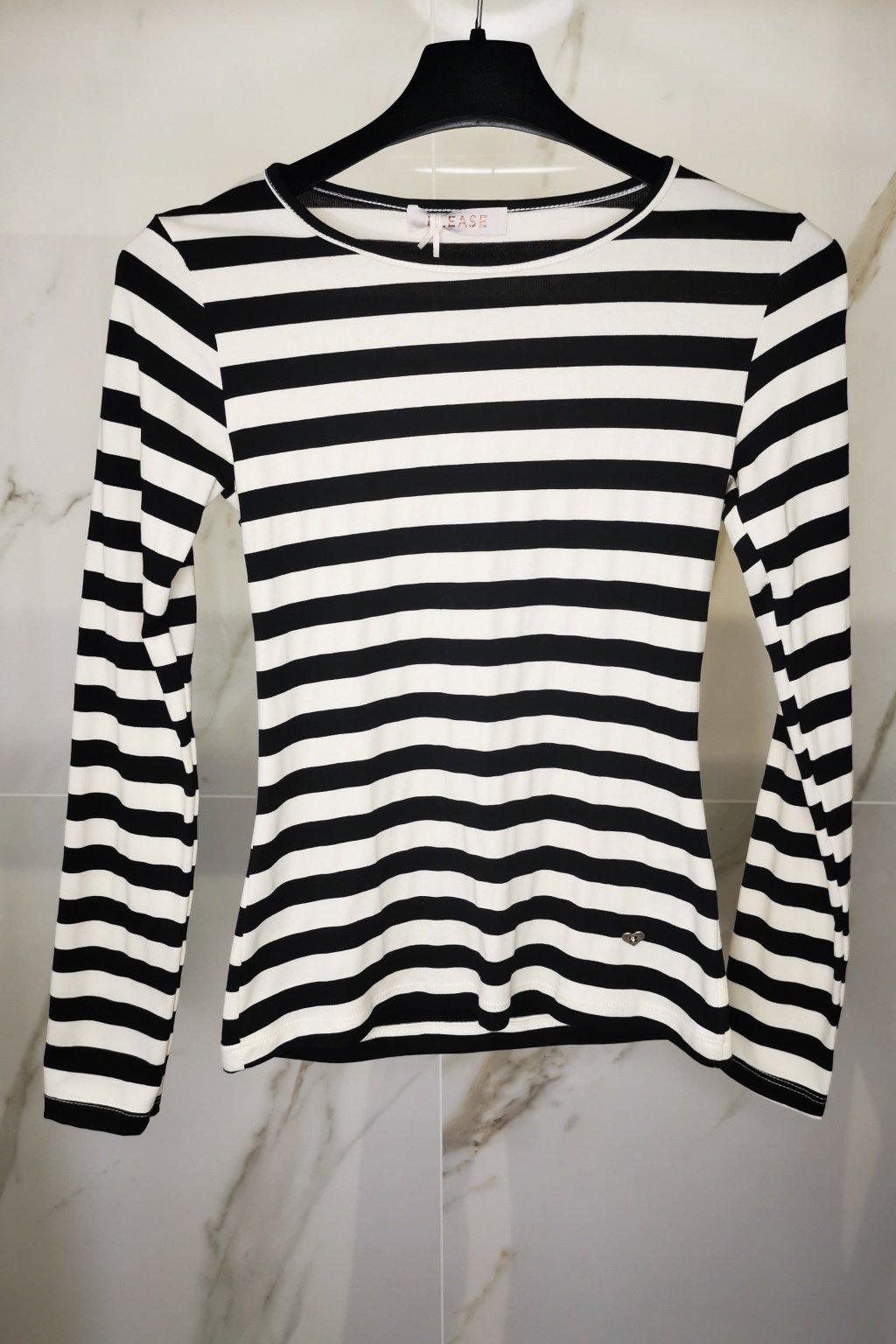 Pásikavé basic tričko