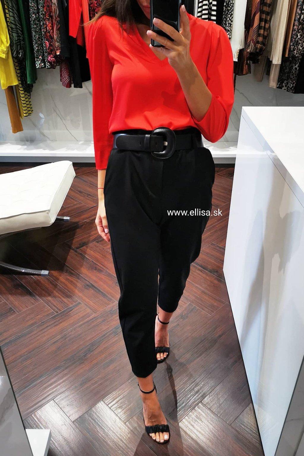 Nohavice s vyšším pásom čierne