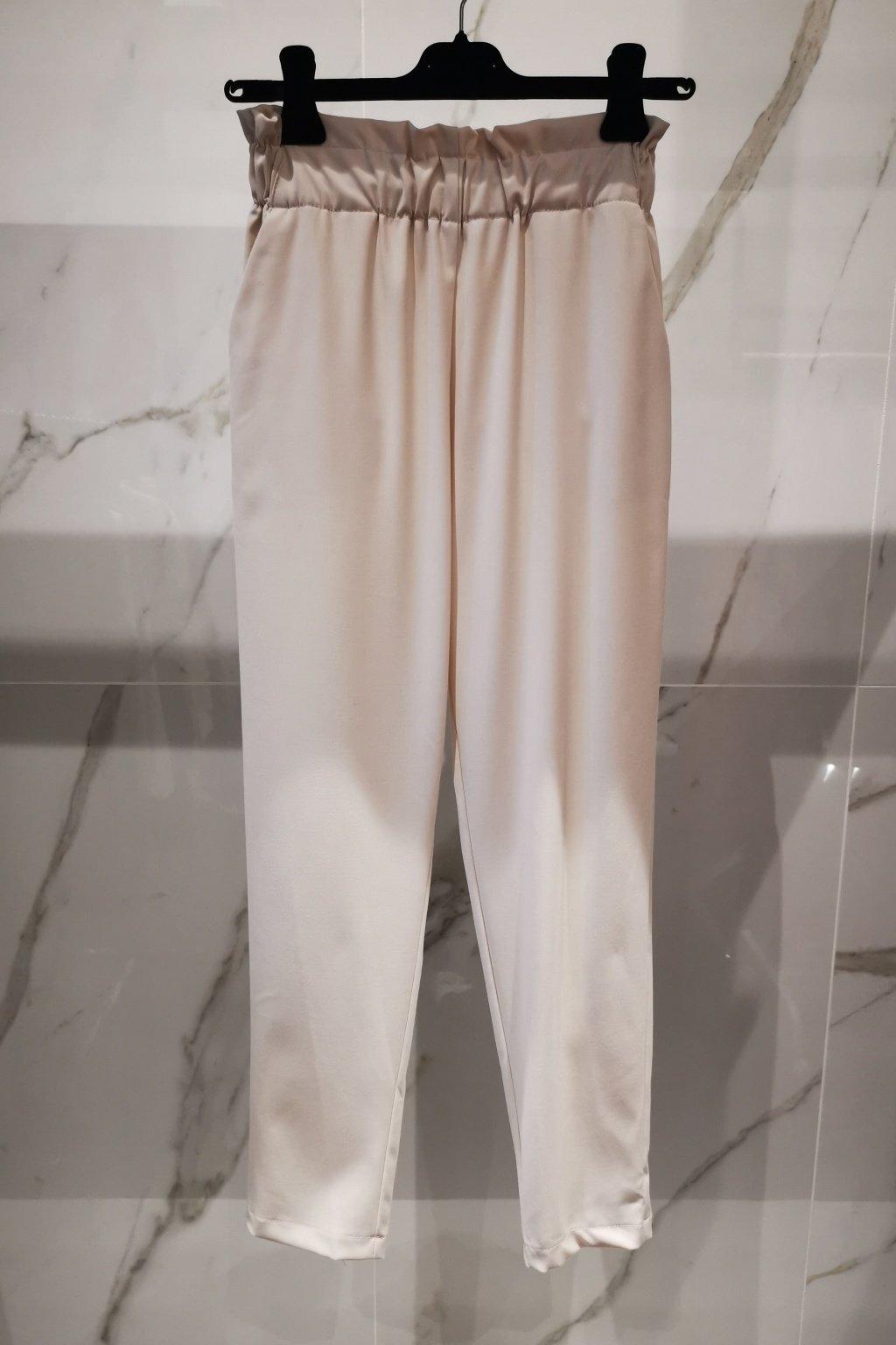 Nohavice s elastickým pásom milk