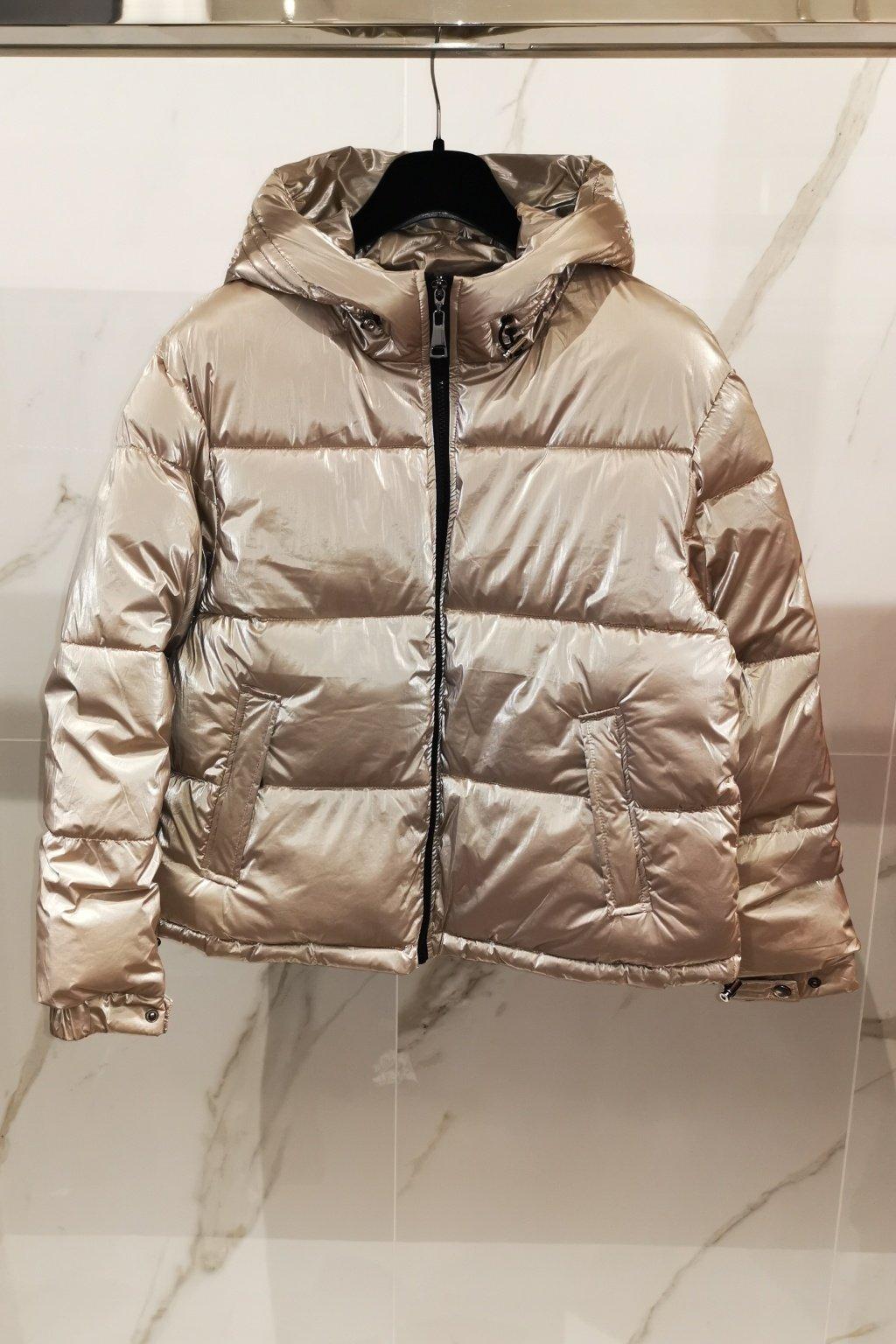 Zimná bunda krátka béžová