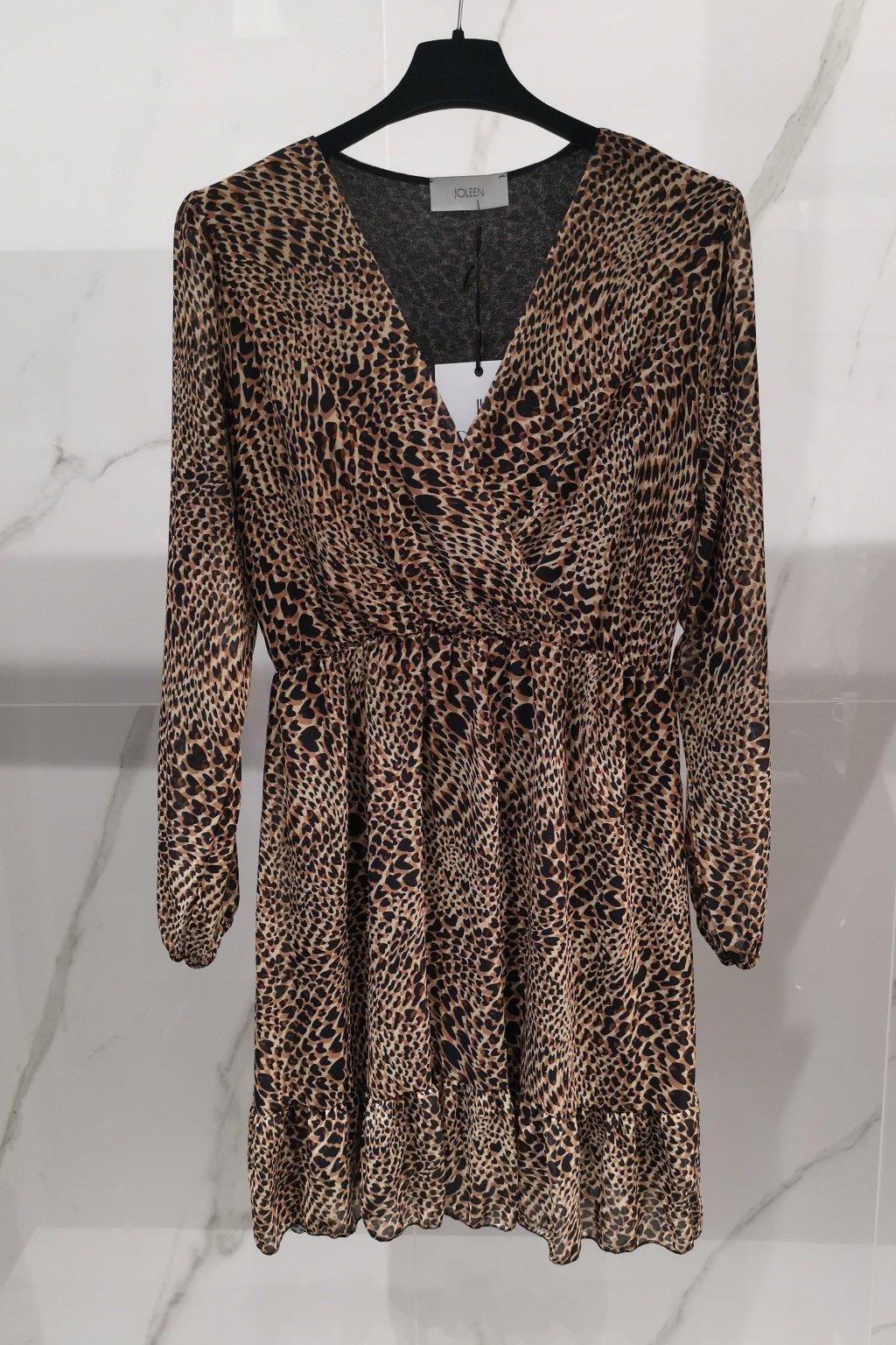 Šaty s volánom hnedé UNI