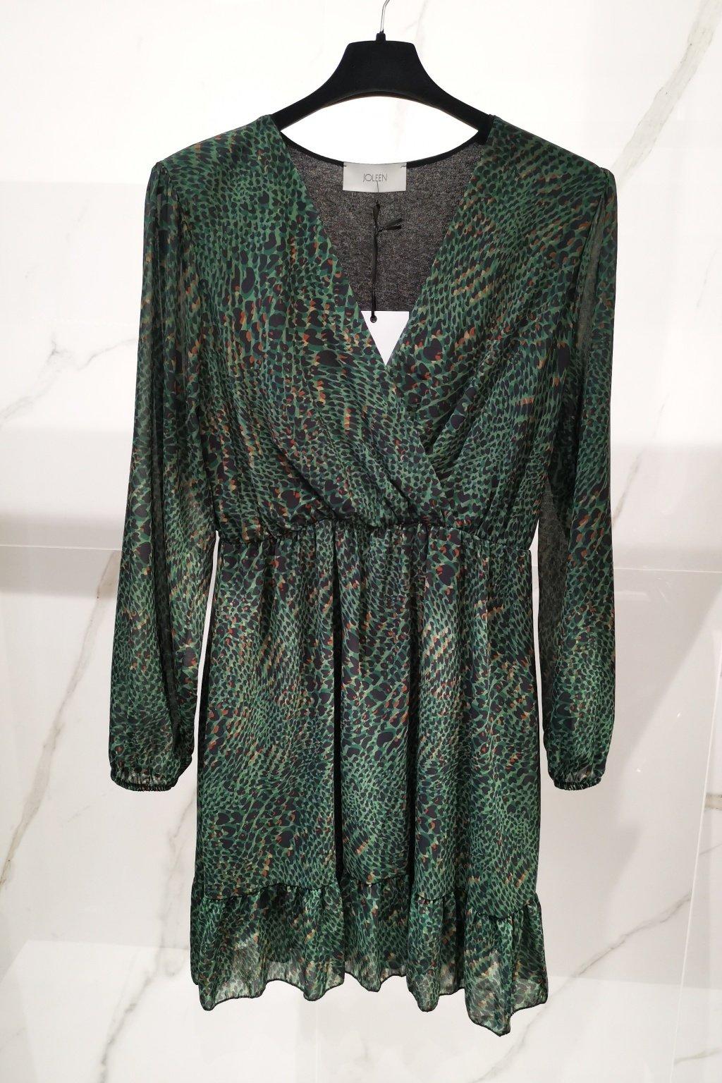 Šaty s volánom zelené UNI