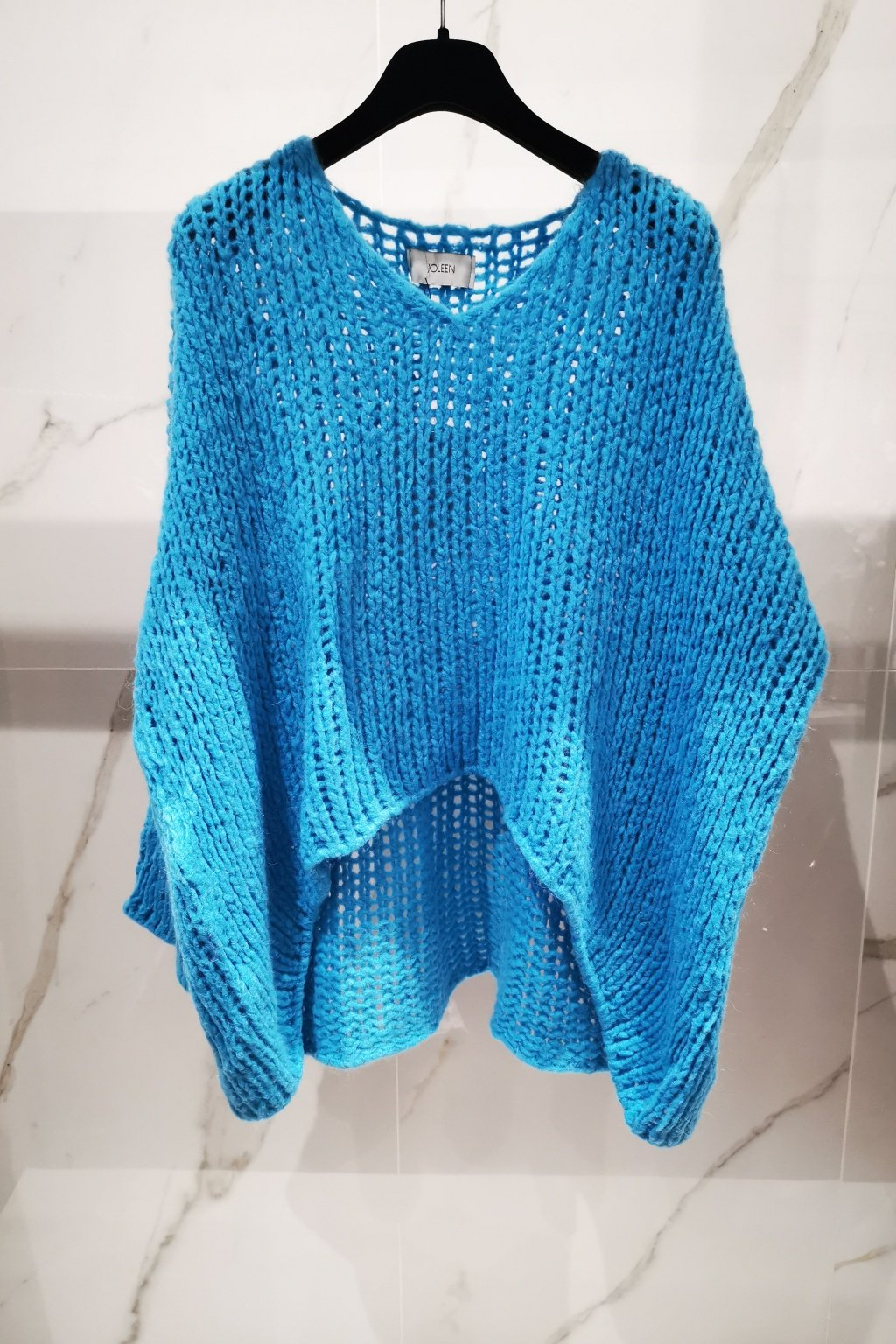 Oversize sveter modrý UNI