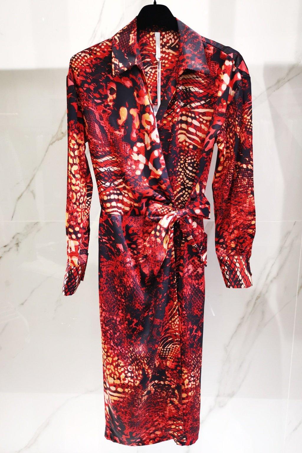 Midi šaty červené