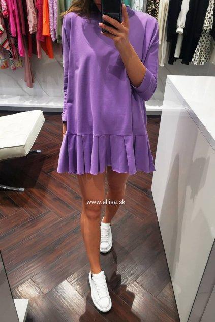 Teplákové šaty lila