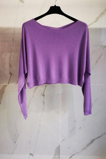 Krátky svetrík fialový UNI