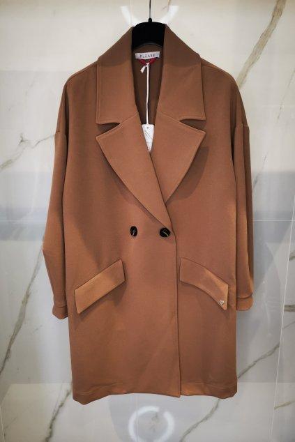 Prechodný kabát hnedý