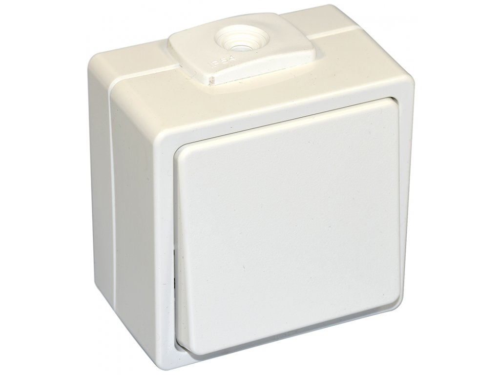 zásuvka do vlhka bílá IP54