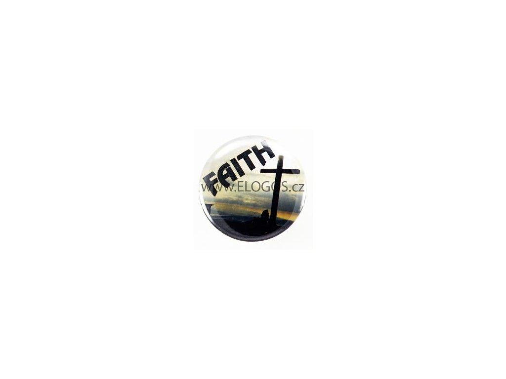 Placka 25mm - Faith-špendlík