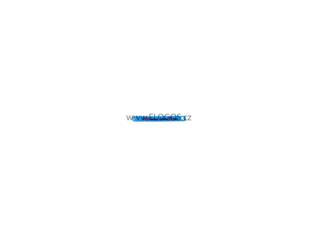 Silikonový náramek , Jesus love me -  modrá