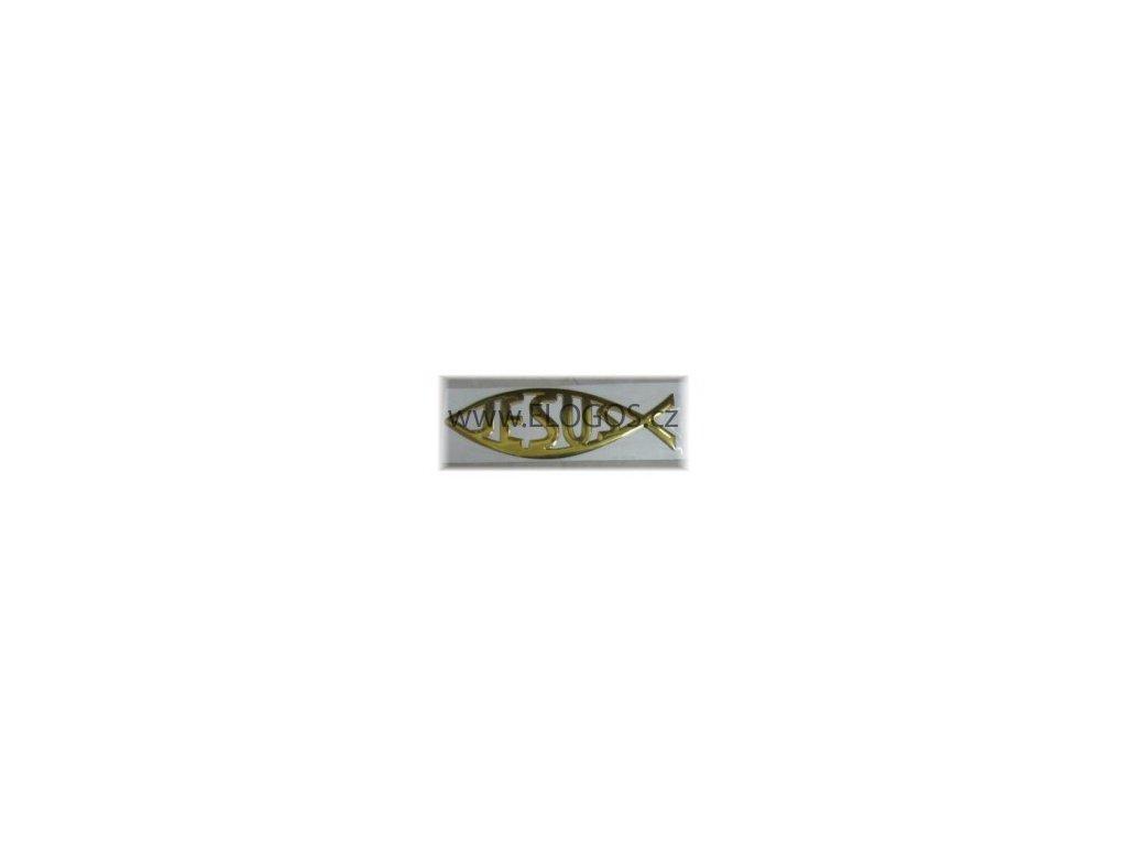 3D samolepka ryba JESUS.  Velikost 15x5cm.